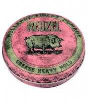 REUZEL Pomade pink heavy hold grease - starker Halt - wenig Glanz, 35g